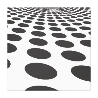 mystery Road circle blast black and white Gallery Wrap Canvas