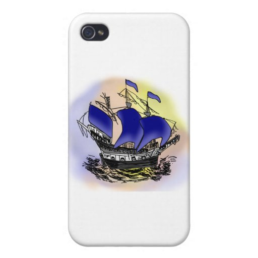 Mystery Tall Ship iPhone 4 Covers