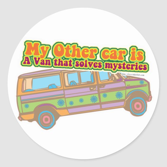 Mystery Van Classic Round Sticker