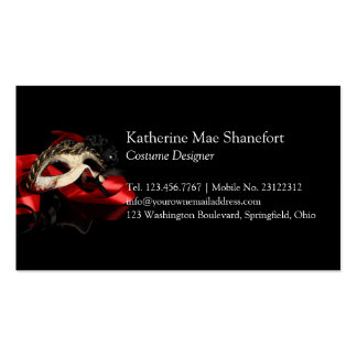 Mystery Venetian Mask Double-Sided Standard Business Cards (Pack Of 100)