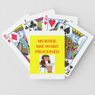 mystery writer bicycle playing cards