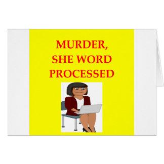 mystery writer card