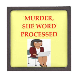 mystery writer keepsake box
