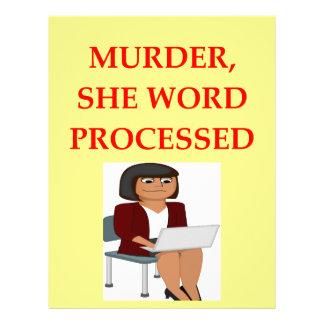 mystery writer letterhead