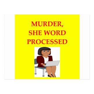 mystery writer postcard