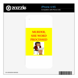 mystery writer skin for iPhone 4S