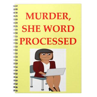 mystery writer spiral notebook