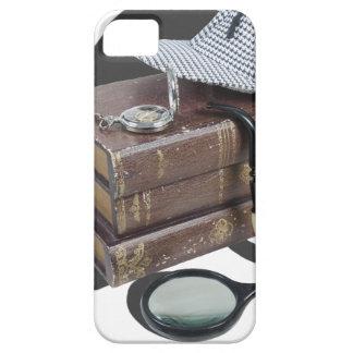 MysteryBooksHatPipeMagnifier042113.png iPhone 5 Funda