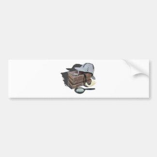MysteryBooksHatPipeMagnifier042113.png Pegatina Para Auto