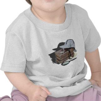 MysteryBooksHatPipeMagnifier042113.png Camisetas