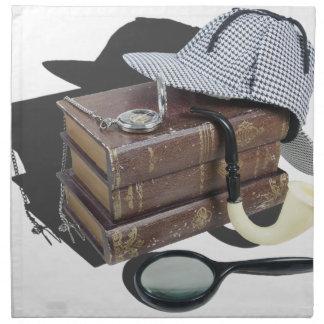 MysteryBooksHatPipeMagnifier042113.png Servilleta
