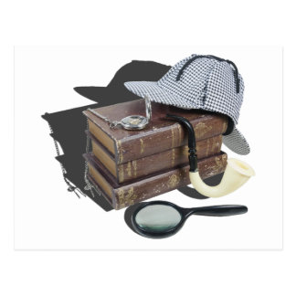 MysteryBooksHatPipeMagnifier042113.png Tarjetas Postales