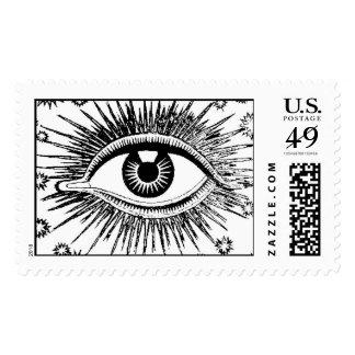 Mystic All Seeing Eye Eyeball Hypnosis Postage