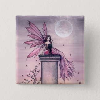 Mystic Amethyst Fairy Pin Button