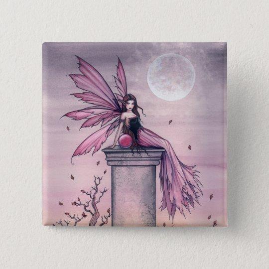 Mystic Amethyst Fairy Pin Button