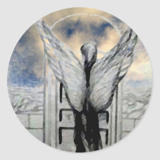 Mystic Angel CricketDiane Art and Design Classic Round Sticker