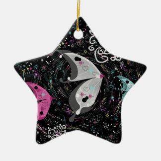 Mystic Butterflies Ceramic Ornament