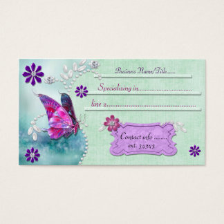 Mystic Butterfly 1 Jeweled Business Card