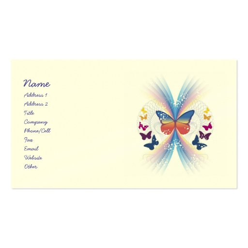 Mystic butterfly business cards zazzle for Butterfly business cards