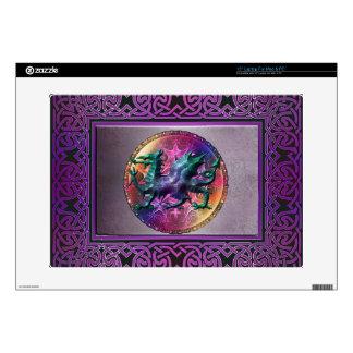 "Mystic Celtic Rainbow Dragon Skin 15"" Laptop Decals"