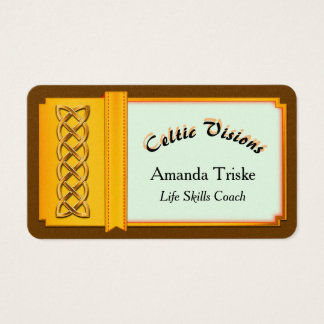 Mystic Celtic Theme, Gold Effect Celtic Knot Business Card