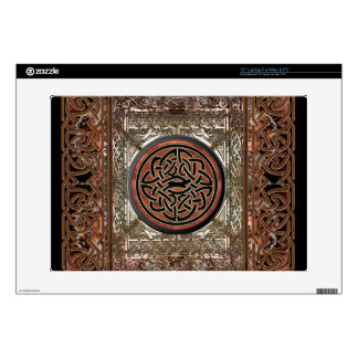 Mystic Copper Celtic Knot on Tapestry with Chains Laptop Skins