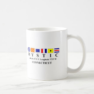 Mystic, CT - Longtitude & Latitude Coffee Mug