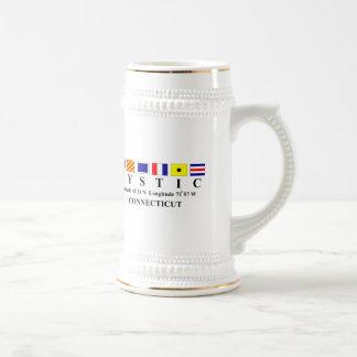 Mystic, CT - Longtitude & Latitude Coffee Mugs