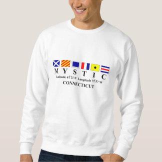 Mystic, CT - Longtitude & Latitude Pullover Sweatshirts