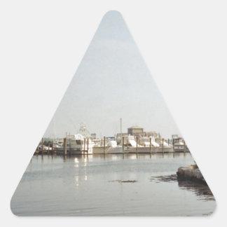 Mystic, CT Triangle Sticker