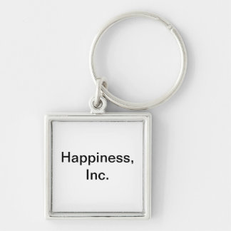 Mystic Edge/Happiness, Inc. Silver-Colored Square Keychain
