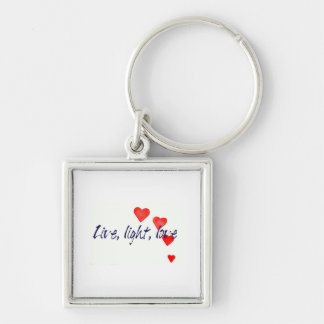 Mystic Edge/Live, light, love - Hearts Keychain
