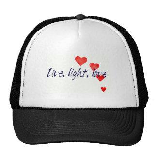 Mystic Edge/Live, light, love - Hearts Trucker Hat