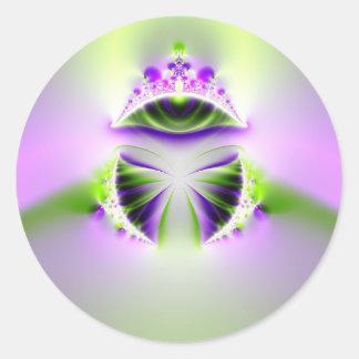 mystic eye classic round sticker