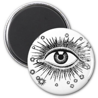 Mystic Eye Sees All 2 Inch Round Magnet