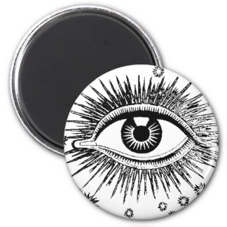Mystic Eye Sees All Eyeball Watching You Weird Art 2 Inch Round Magnet