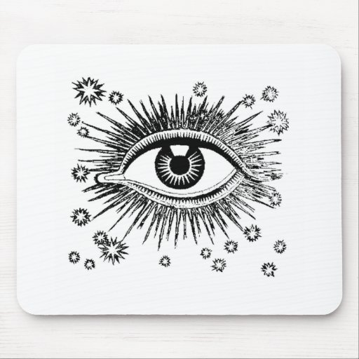 Mystic Eye Sees All Mouse Pad