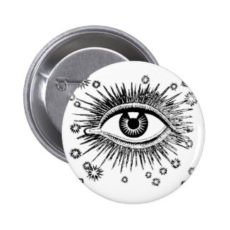 Mystic Eye Sees All Pinback Button