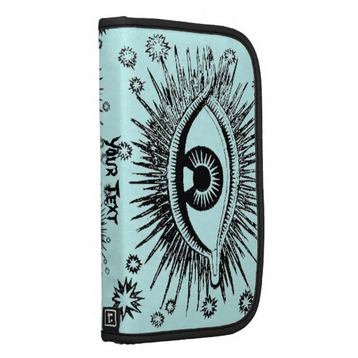 Mystic Eyes AddYourText Zippered Clutch Phone Case Planners