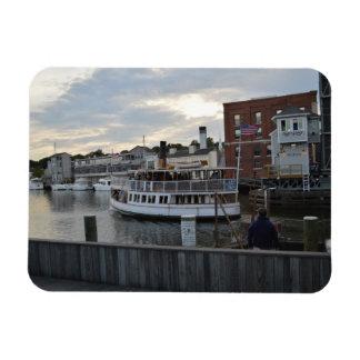 Mystic Ferry Rectangular Photo Magnet