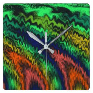 Mystic Fires Square Wall Clock
