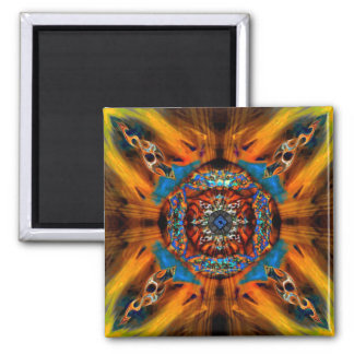 Mystic Fractal Square Magnet