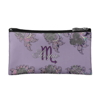 Mystic Fractal Zodiac Sign Scorpio Bag Makeup Bag