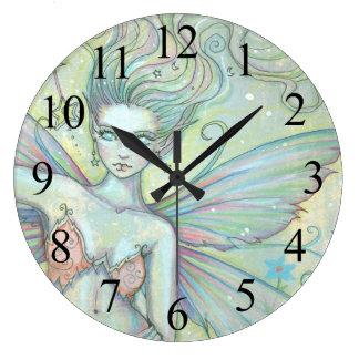 Mystic Garden Fairy Fantasy Art Clock