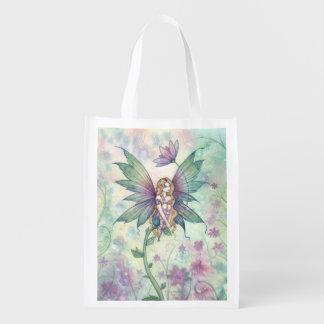 Mystic Garden Flower Fairy Art Shopping Bag Market Tote