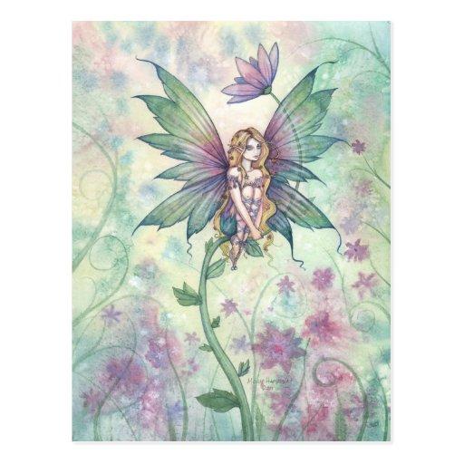 Mystic Garden Flower Fairy in Watercolor Postcard