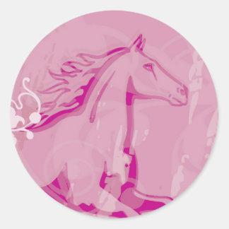 Mystic Garden Horse Classic Round Sticker