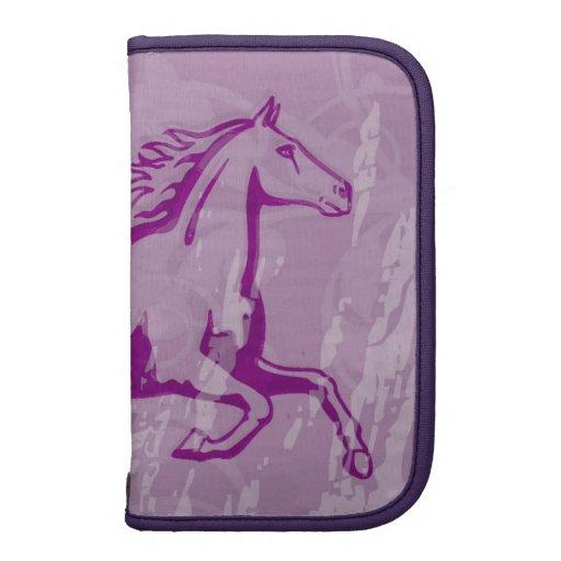 Mystic Garden Horse (Lt. Purple) Folio Folio Planner