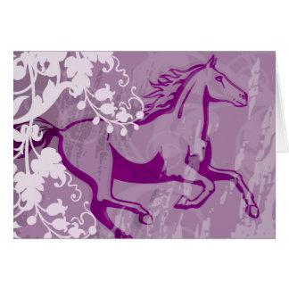 Mystic Garden Horse (Lt. Purple) Greeting Card