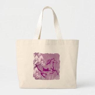 Mystic Garden Horse (Lt. Purple) Large Tote Bag